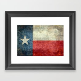 State flag of Texas, Lone Star Flag of the Lone Star State Framed Art Print