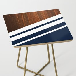 Wooden Navy Side Table