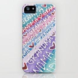 Grandma Love iPhone Case