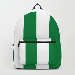 Classic Cabana Stripes in White + Kelly Green Backpack