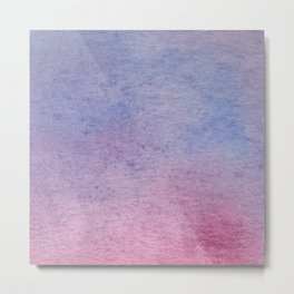 Hand drawn lilac ombre watercolor texture Metal Print