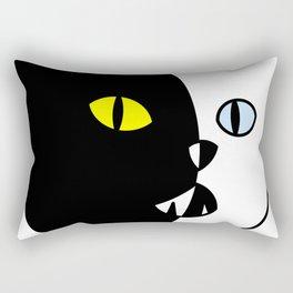 Black and White Cat Rectangular Pillow