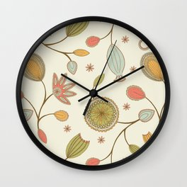 Mehndi Flower Wall Clock