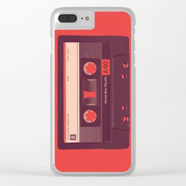 Audio Cassette Clear iPhone Case