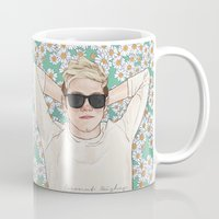 coconutwishes Mugs featuring Niall daisies field by Coconut Wishes