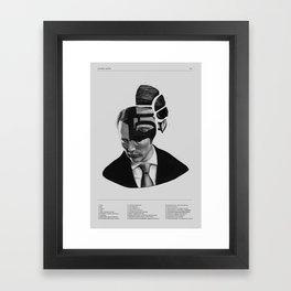Hannibal Lecter Phrenology Framed Art Print