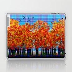 Fall Leaves On Plaid Laptop & iPad Skin