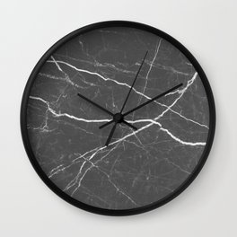 Gray marble abstract texture pattern Wall Clock