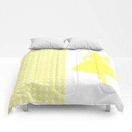 Lemonade Modern Houndstooth w/ Fashion Silhouette Comforters