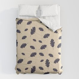 Fall pattern blue oak leaves Comforters