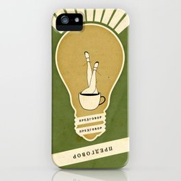 Light and the Coffee iPhone Case