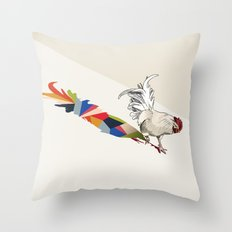 Walking Shadow, Rooster Throw Pillow