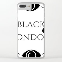 Black London Clear iPhone Case