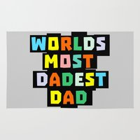 dad Area & Throw Rugs featuring Dad by mailboxdisco