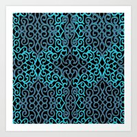 celtic Art Prints featuring celtic blue by Ariadne