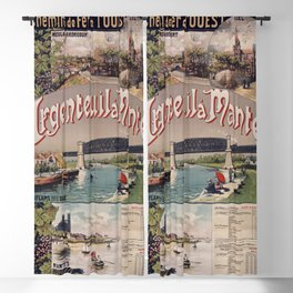 Vintage French Travel Poster: Argenteuil - Mantes (1893) Blackout Curtain