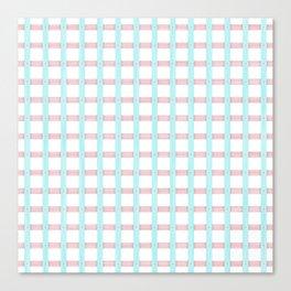 Light Blue Seamless Wood Lattice Canvas Print