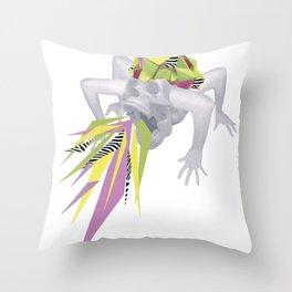 King Skull Throw Pillow
