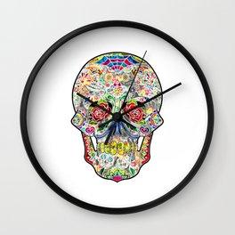 Sugar Skull Art Wall Clock