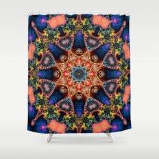 BBQSHOES: Kaleidoscopic Fractal Digital Art Design 1702K Shower Curtain