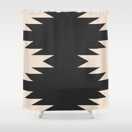 Minimal Southwestern - Charcoal Shower Curtain