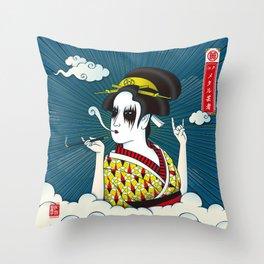 メタル芸者(METAL GEISHA) Throw Pillow