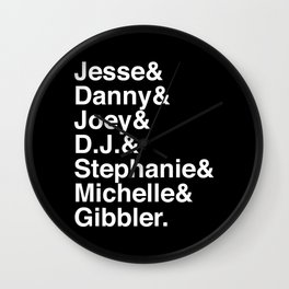 Fullest House Wall Clock