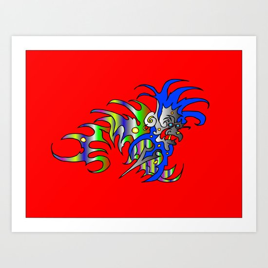 Raja-Red Art Print