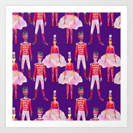 Nutcracker Ballet - Violet Purple Art Print