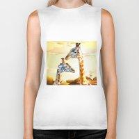 giraffes Biker Tanks featuring Giraffes by Eric Bassika