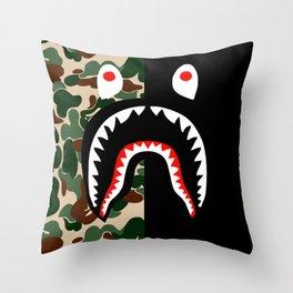 Bape Shark Pattern Throw Pillow