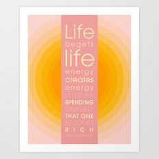 Spend Oneself Art Print