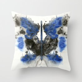 Blue Knight Throw Pillow