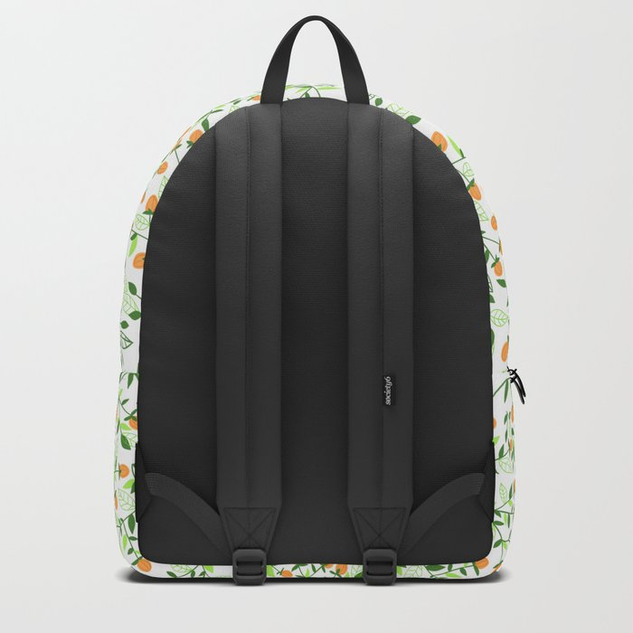 Floral doodles green and orange Backpack