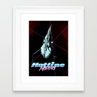 hotline miami Framed Art Prints featuring Hotline Miami by Lionel Hotz