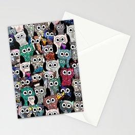 Gemstone Owls Stationery Cards