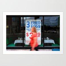 Fried Eggs on Broadway Art Print