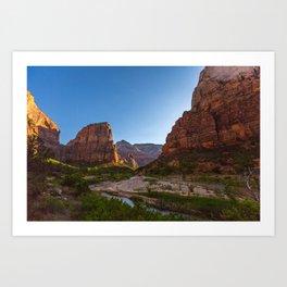 Angel's Landing Zion National Park Utah Art Print