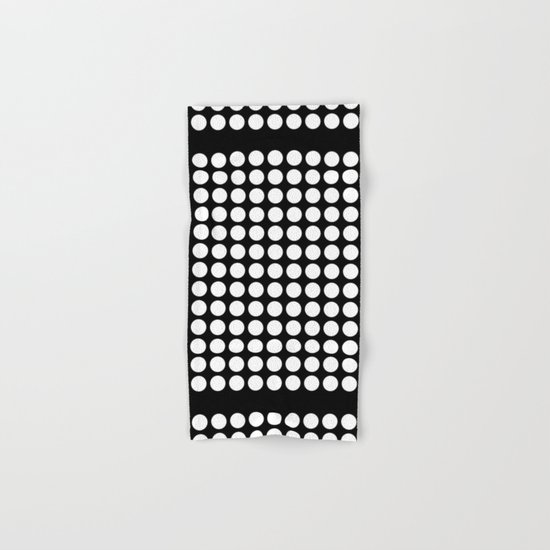 Black and white polka dot pattern . Hand & Bath Towel