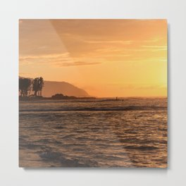 North Shore Sunset Metal Print