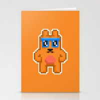 8bit Stationery Cards featuring 8Bit RaveBear by Bear Picnic
