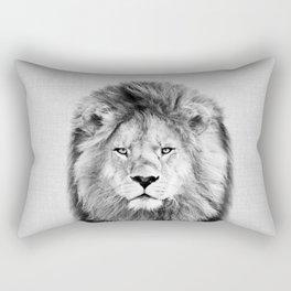 Lion 2 - Black & White Rectangular Pillow