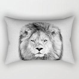 Lion 2 - Black & White Rectangular Pillow