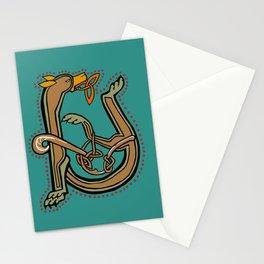 Celtic Hound Letter U 2018 Stationery Cards