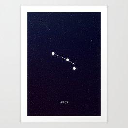 Aries zodiac sign Art Print
