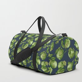Lime Dark Pattern Duffle Bag