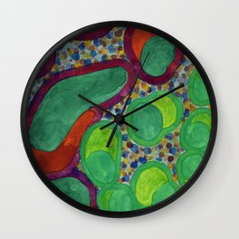 Filled Spicy Vegetables Wall Clock