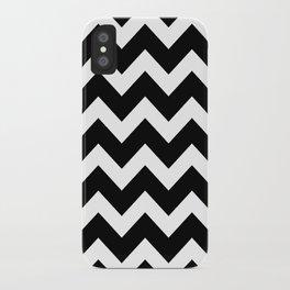 Chevron Black & White iPhone Case