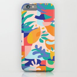 Amalfi Abstraction Pattern / Colourful Modern Shapes iPhone Case