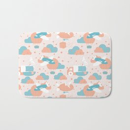 seamless pattern design with boy toys Bath Mat